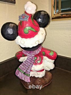 Jim Shore Traditions De Noël Mickey Mouse Disney Large Figurine Santa Extérieur