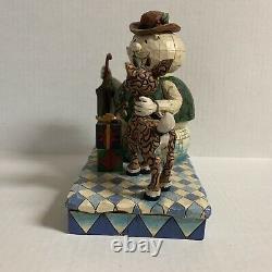 Jim Shore Traditions Rudolph & Sam The Snowman Figurine 4008339 Retraité 2007