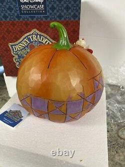 Jim Shore Vampire Mickey & Devil Donald Halloween Pumpkin Trick Or Treat Mib