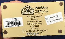 Nib Jim Shore Walt Disney Traditions Intrigants # 4007215 Si & Am
