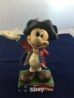 Rare Disney Traditions Jim Shore American Patriot Mickey Mouse 4045235 Nib