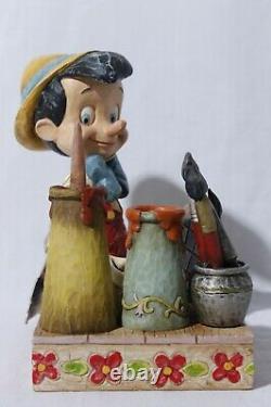Rare Disney Traditions Jim Shore Enesco Pinocchio Sculpté Du Cœur
