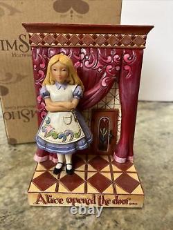Rare Jim Shore Disney Alice Au Pays Des Merveilles Lapin Trouvé Wonderland Ouvert Porte