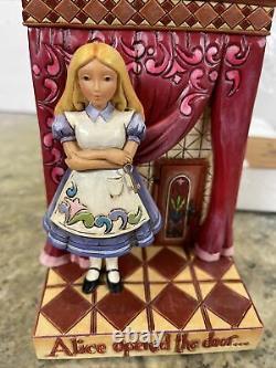 Rare Jim Shore Disney Alice Au Pays Des Merveilles Lapin Trouvé Wonderland Porte Ouverte Nouveau