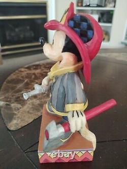 Rare Jim Shore Disney Enesco Mickey Au Pompier. Lire La Description