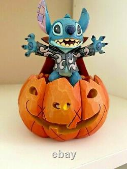 Super Rare Disney Tradition Stitch Pumpkin Happy Halloween Lumières Up 6